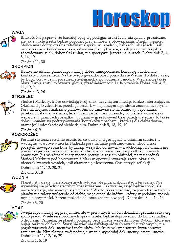 Horoskop WAGA.