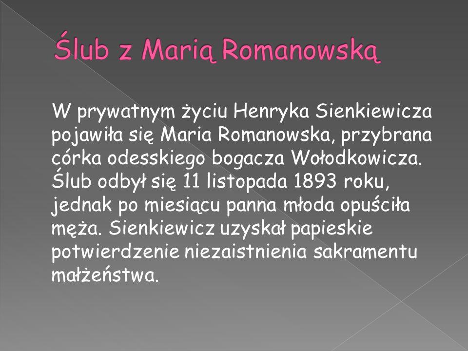 Ślub z Marią Romanowską