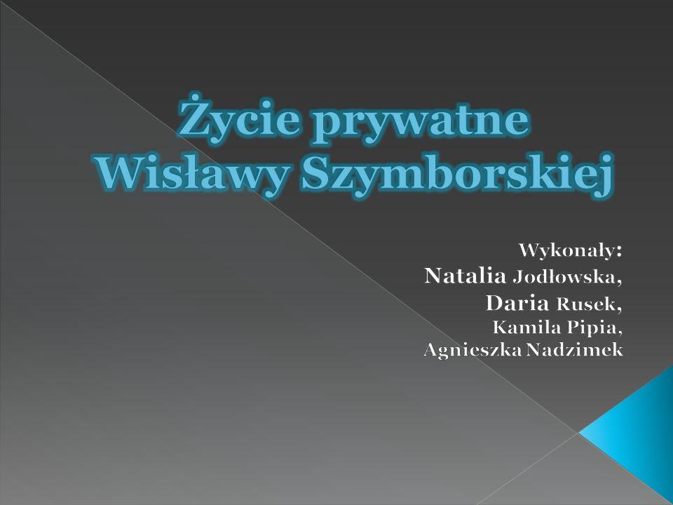 Życie prywatne Wisławy Szymborskiej