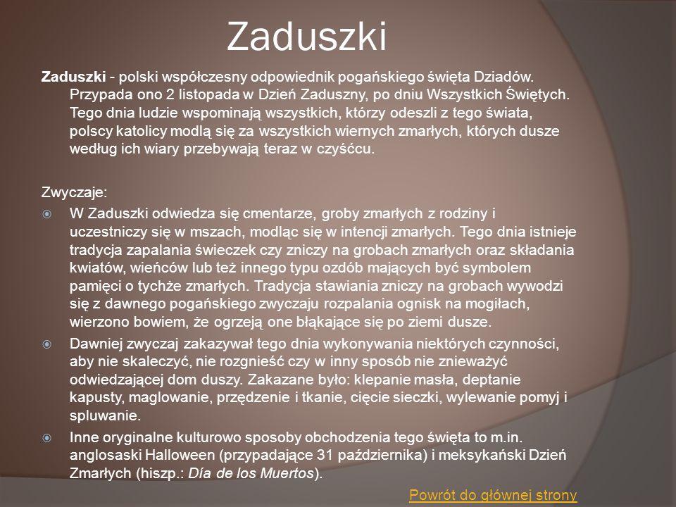 Zaduszki