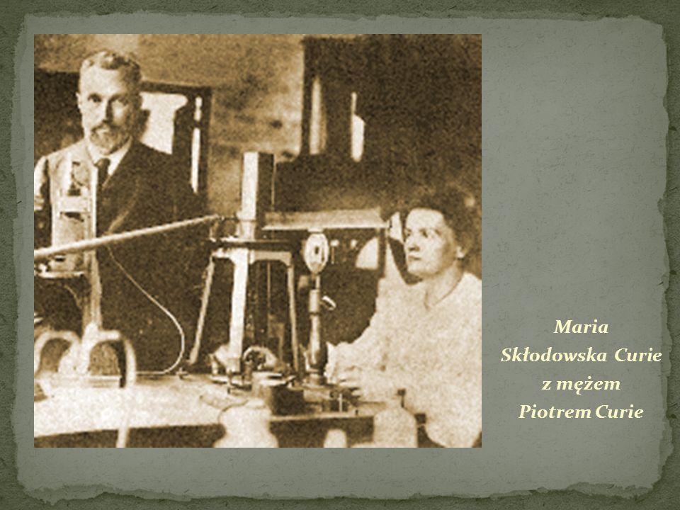 Maria Skłodowska Curie z mężem Piotrem Curie