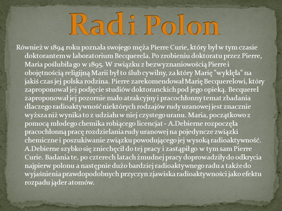 Rad i Polon