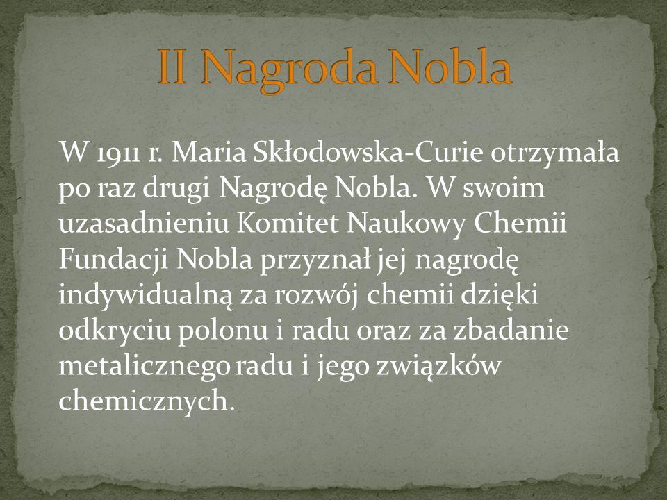II Nagroda Nobla