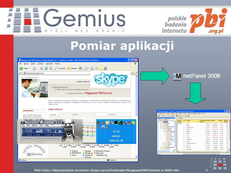 Pomiar aplikacji netPanel 2006 netPanel 2005