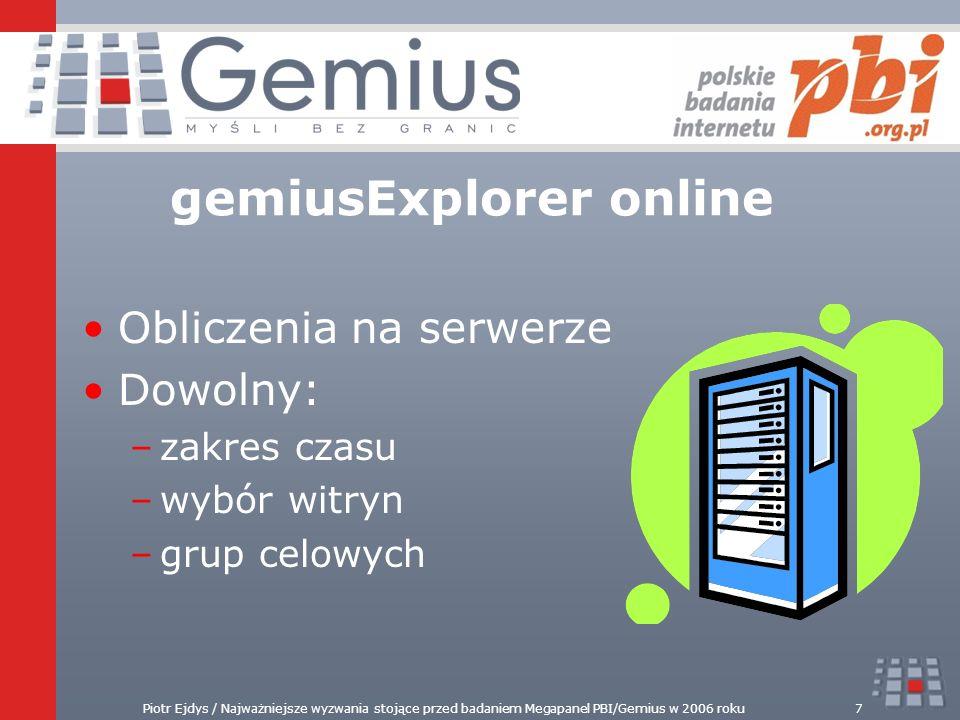 gemiusExplorer online