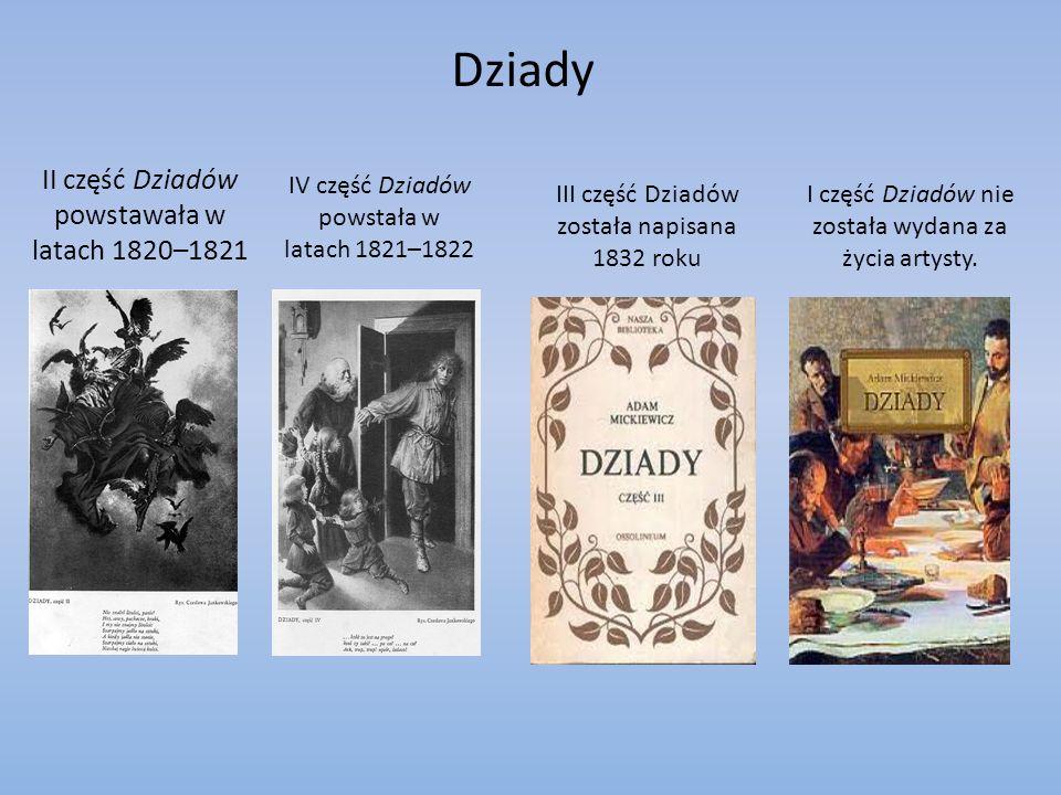 Dziady II część Dziadów powstawała w latach 1820–1821