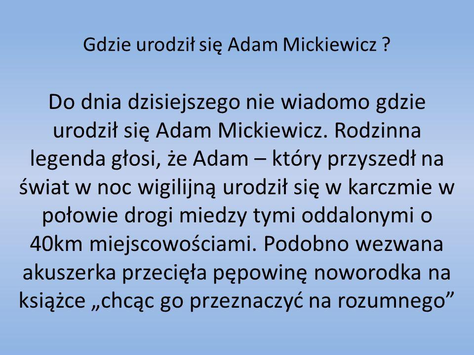 Gdzie urodził się Adam Mickiewicz