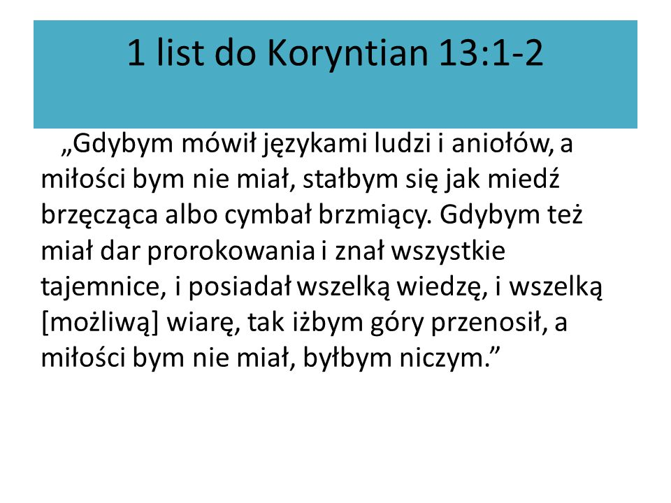 1 list do Koryntian 13:1-2