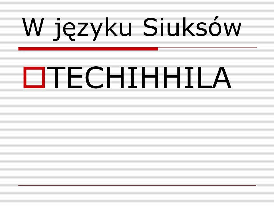 W języku Siuksów TECHIHHILA