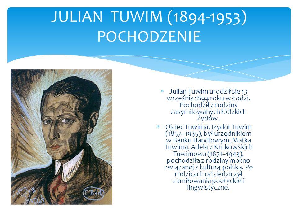 JULIAN TUWIM (1894-1953) POCHODZENIE