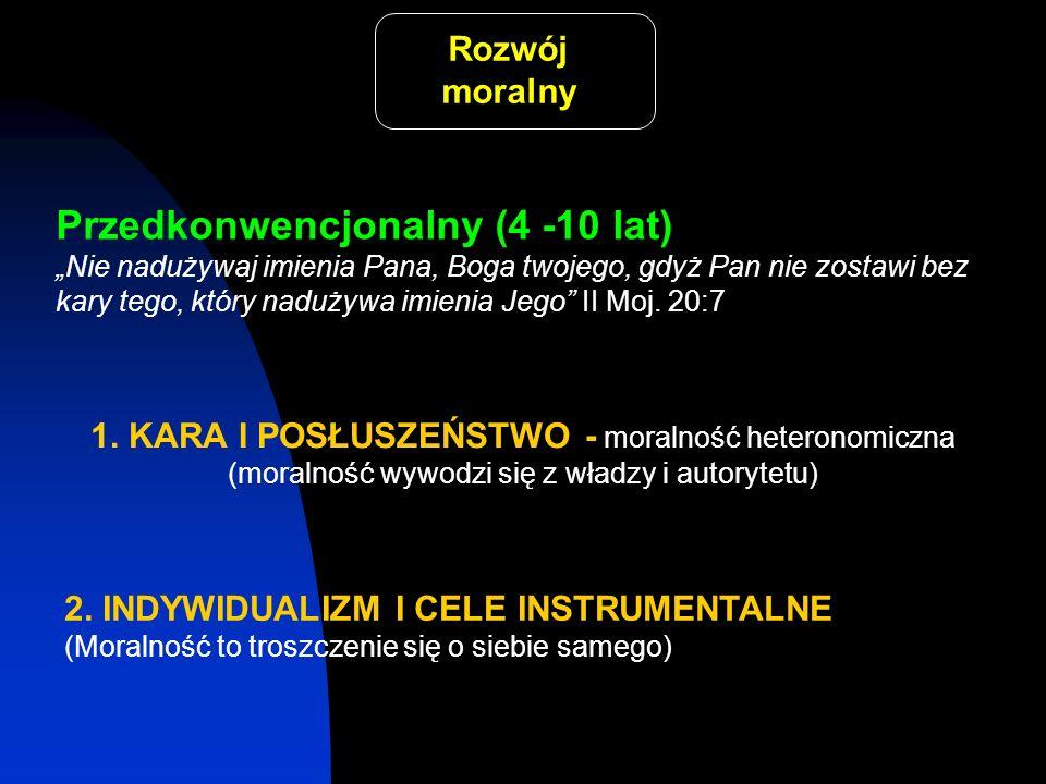 Przedkonwencjonalny (4 -10 lat)