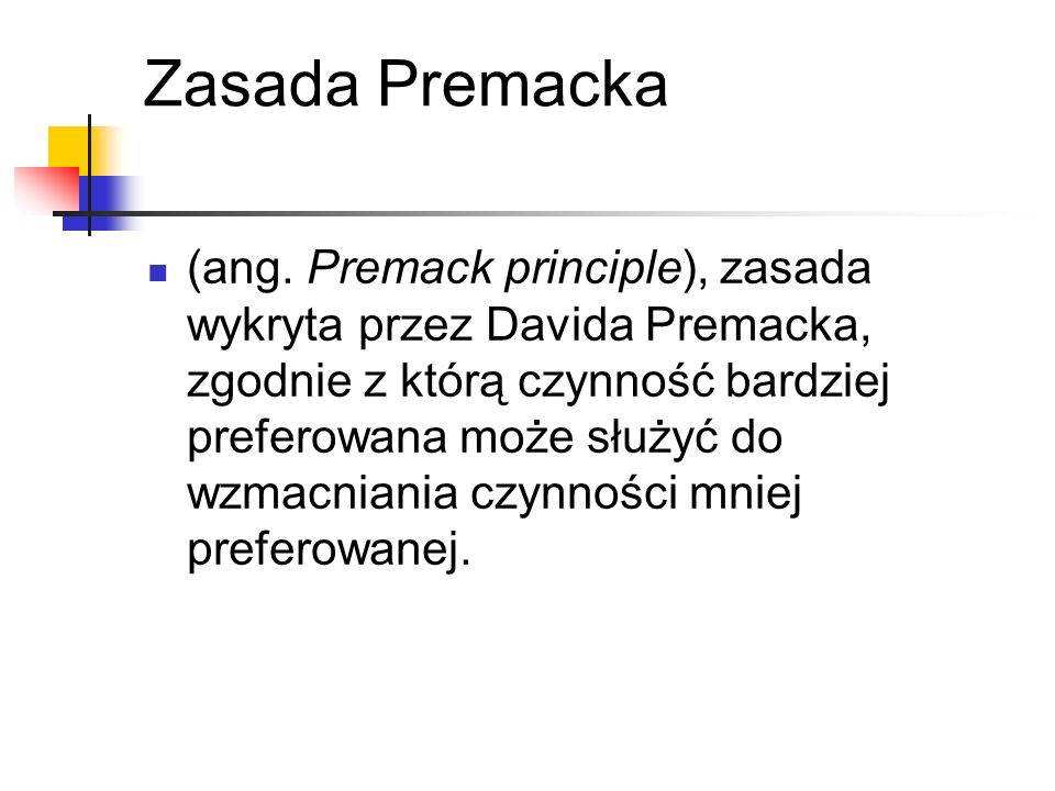 Zasada Premacka