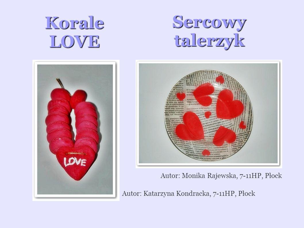 Korale LOVE Sercowy talerzyk