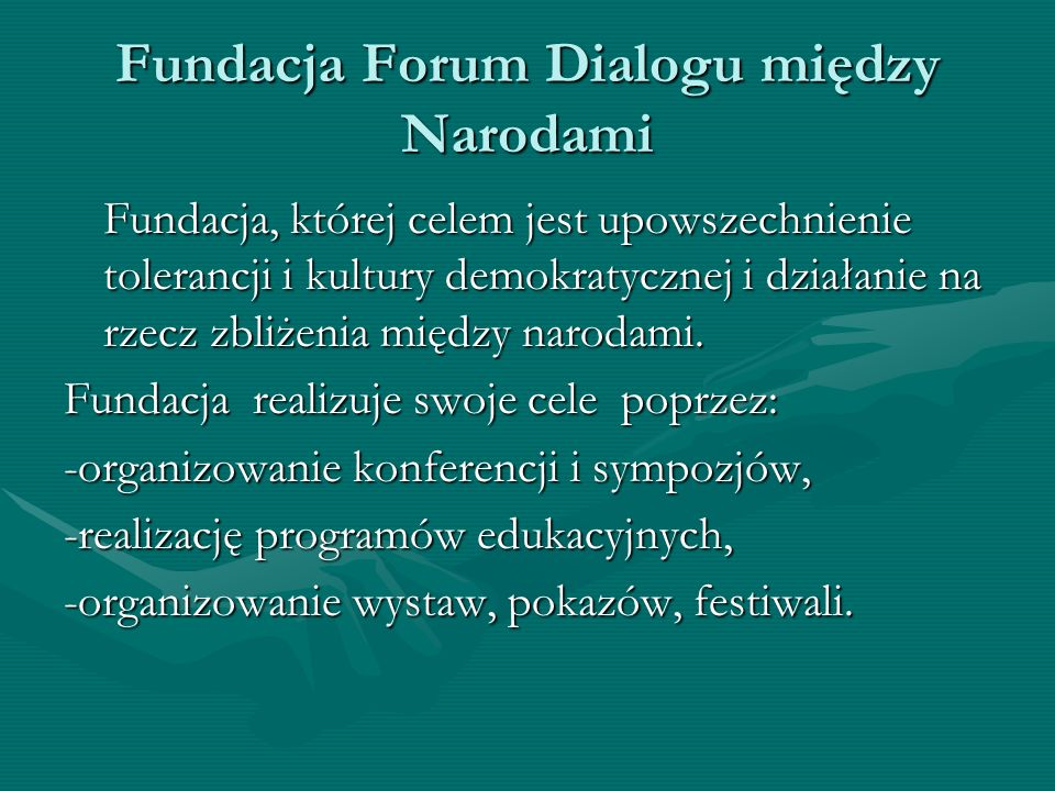 Fundacja Forum Dialogu między Narodami