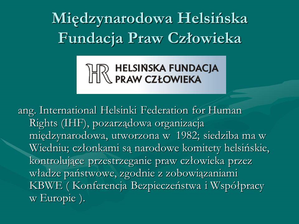 Międzynarodowa Helsińska Fundacja Praw Człowieka