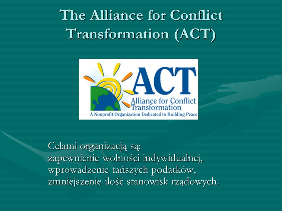 The Alliance for Conflict Transformation (ACT)