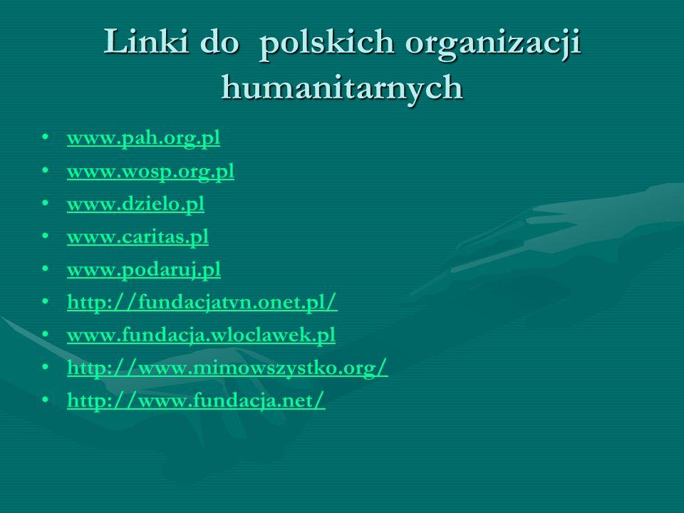 Linki do polskich organizacji humanitarnych