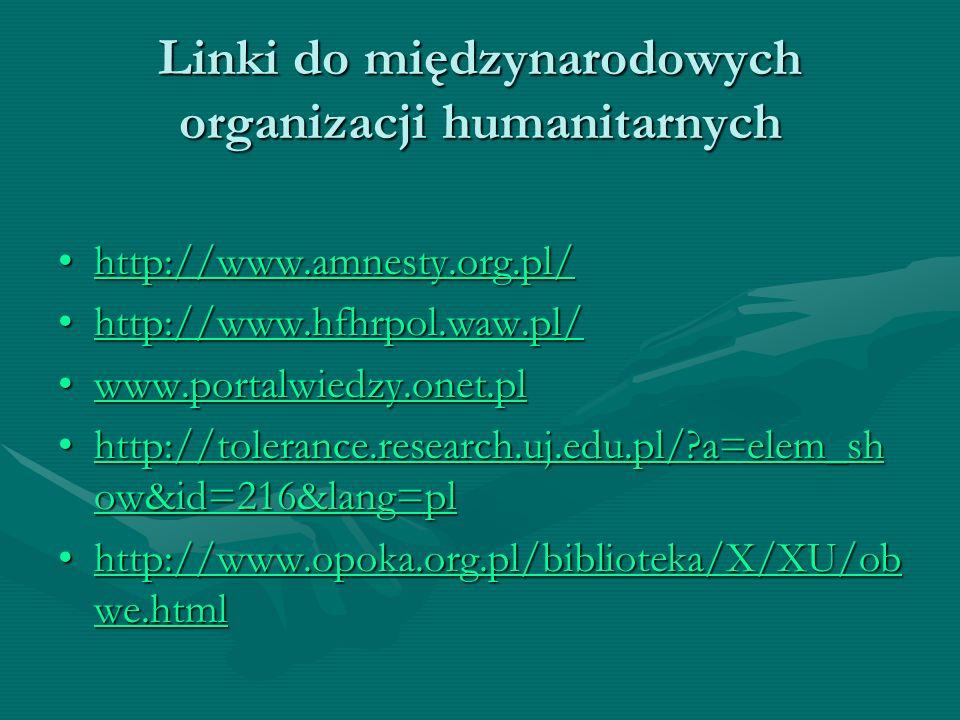 Linki do międzynarodowych organizacji humanitarnych