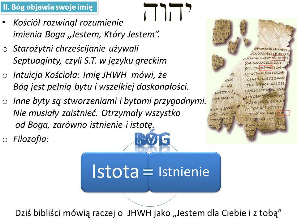 """Dziś bibliści mówią raczej o JHWH jako """"Jestem dla Ciebie i z tobą"""