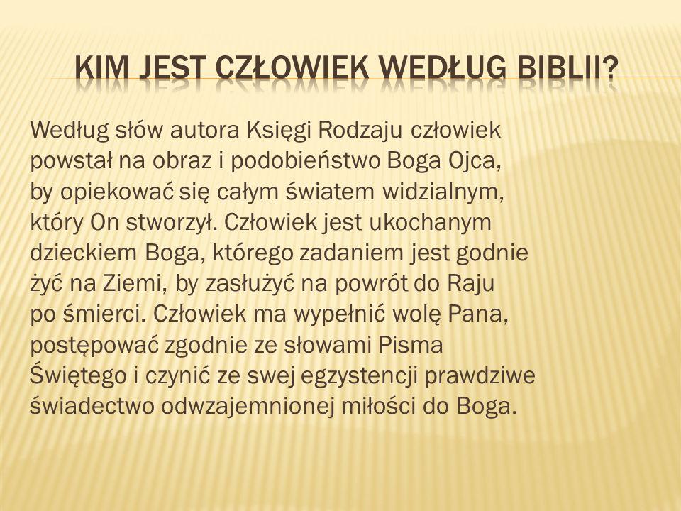 KIM JEST CZŁOWIEK WEDŁUG BIBLII