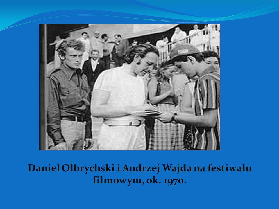 Daniel Olbrychski i Andrzej Wajda na festiwalu filmowym, ok. 1970.