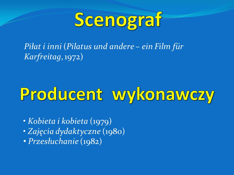 Scenograf Producent wykonawczy