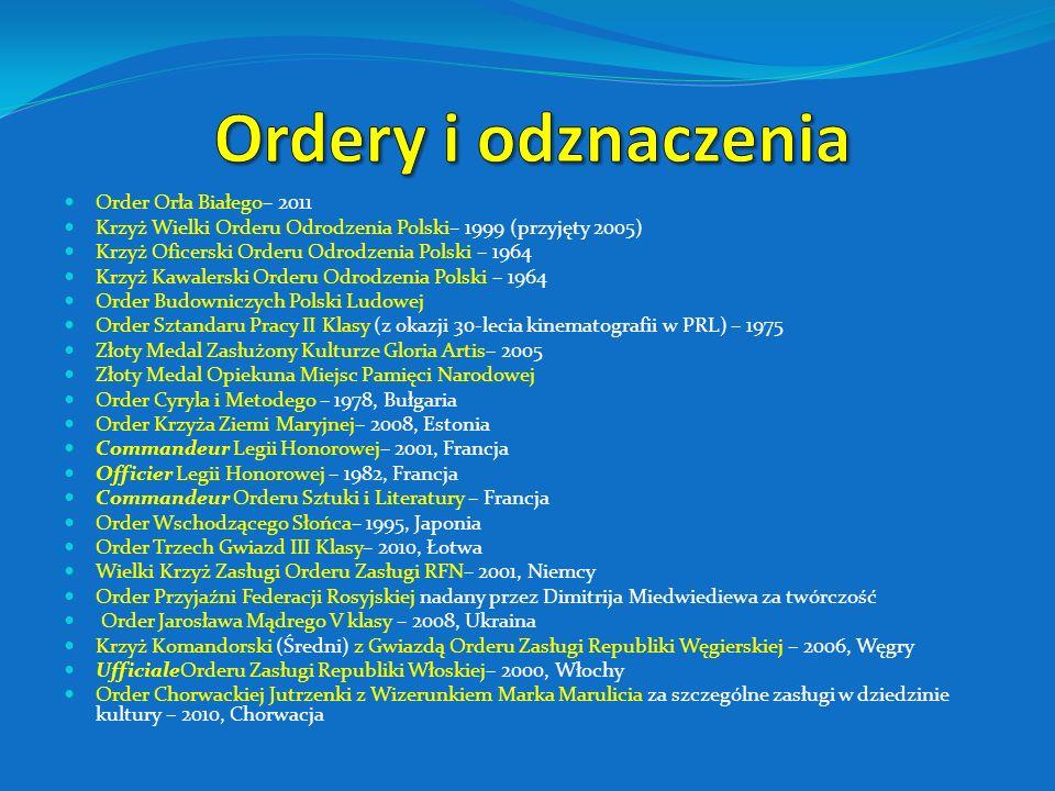 Ordery i odznaczenia Order Orła Białego– 2011