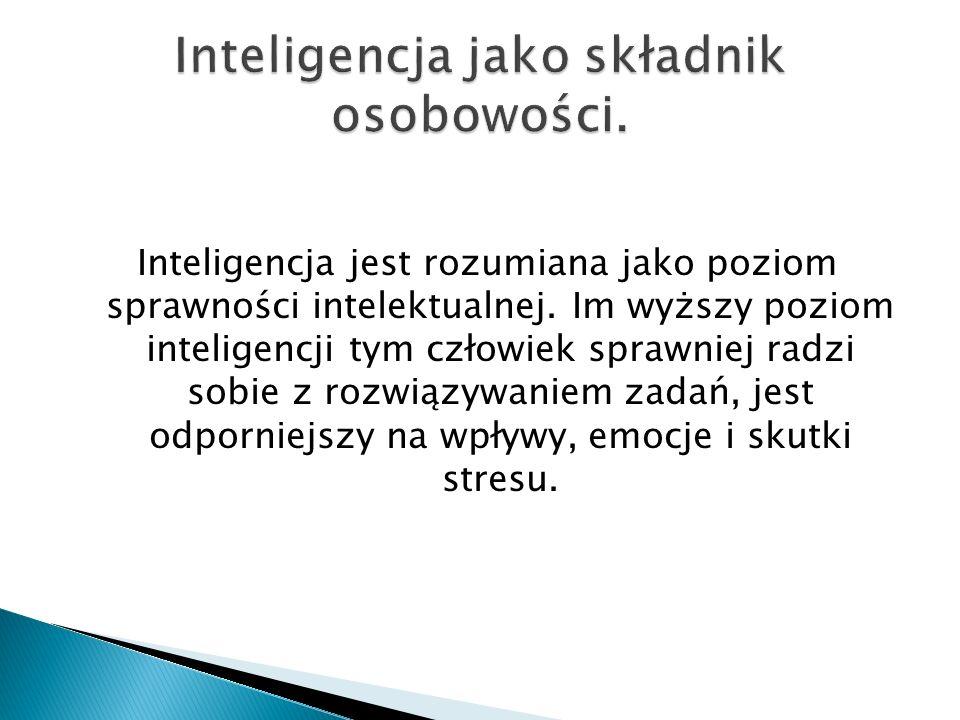 Inteligencja jako składnik osobowości.