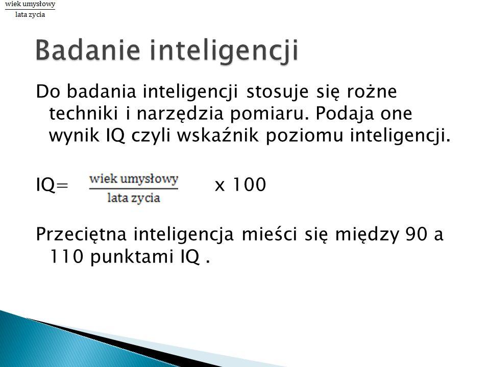 Badanie inteligencji