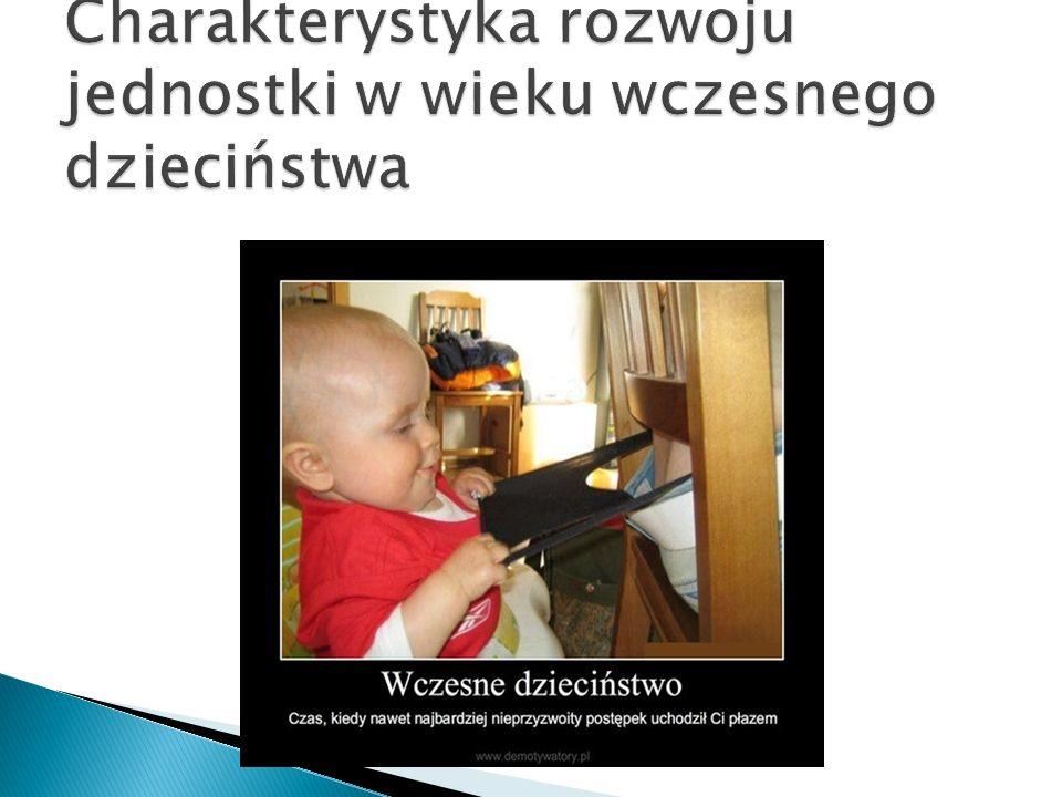 Charakterystyka rozwoju jednostki w wieku wczesnego dzieciństwa
