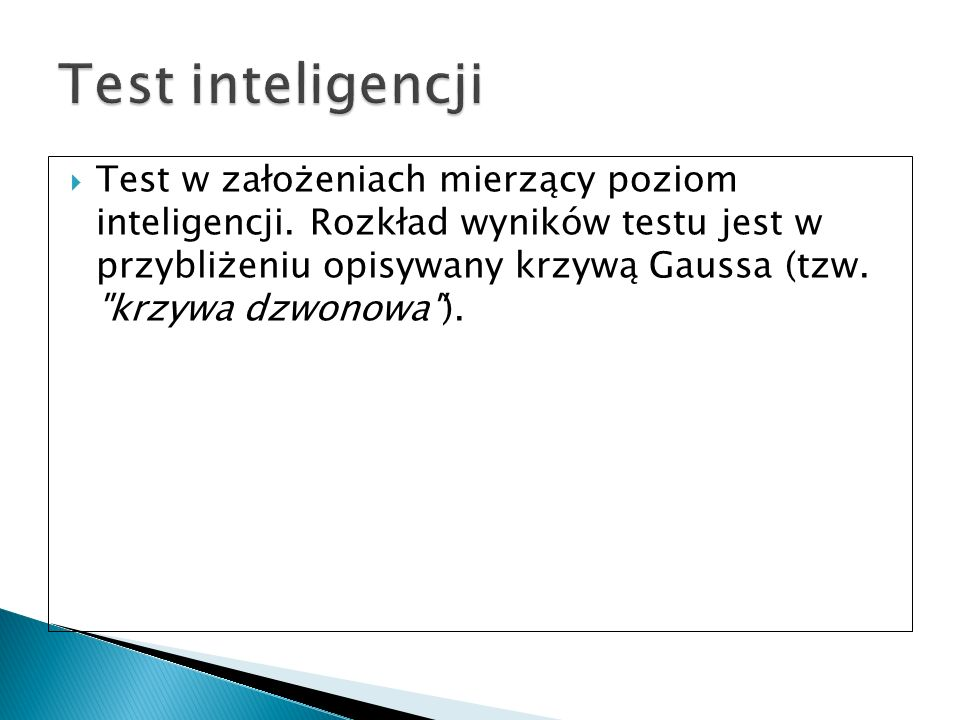 Test inteligencji
