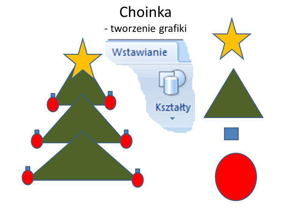 Choinka - tworzenie grafiki