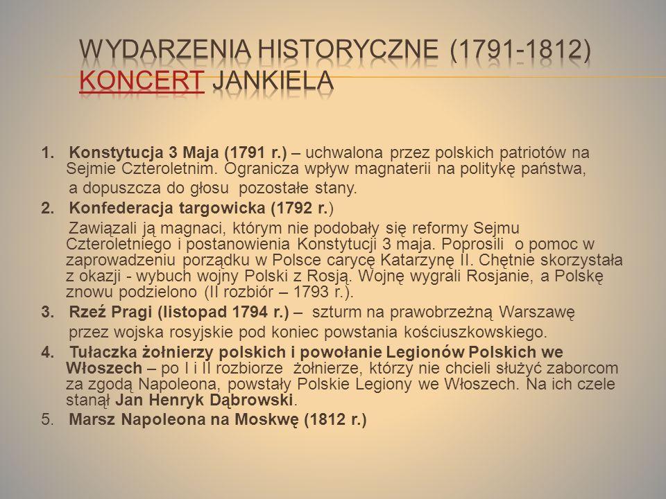 Wydarzenia historyczne (1791-1812) Koncert Jankiela