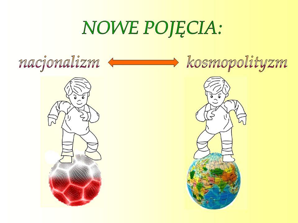 NOWE POJĘCIA: nacjonalizm kosmopolityzm