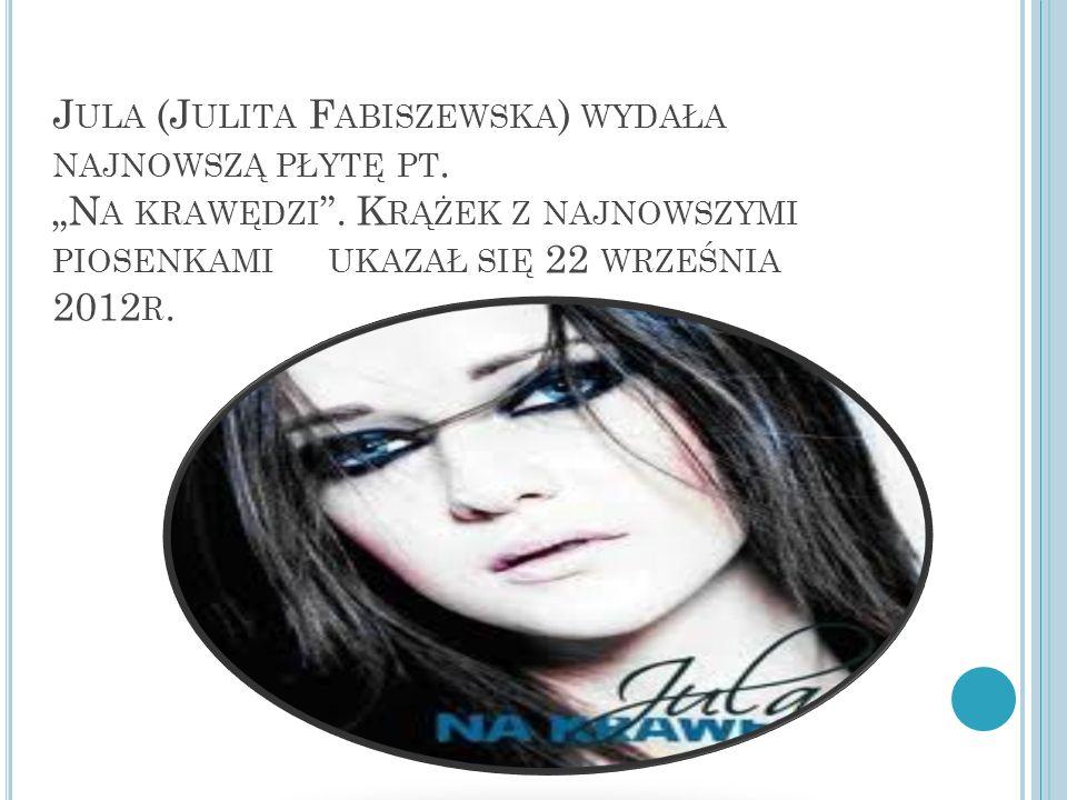 """Jula (Julita Fabiszewska) wydała najnowszą płytę pt. """"Na krawędzi"""