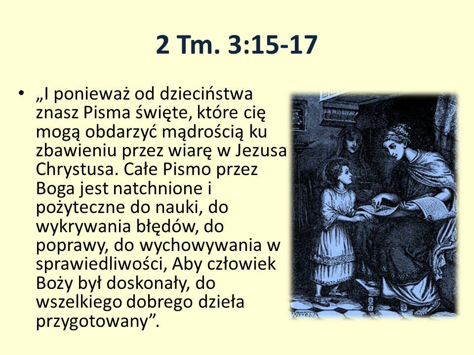2 Tm. 3:15-17