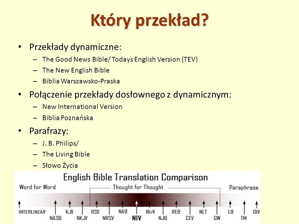 Który przekład Przekłady dynamiczne: