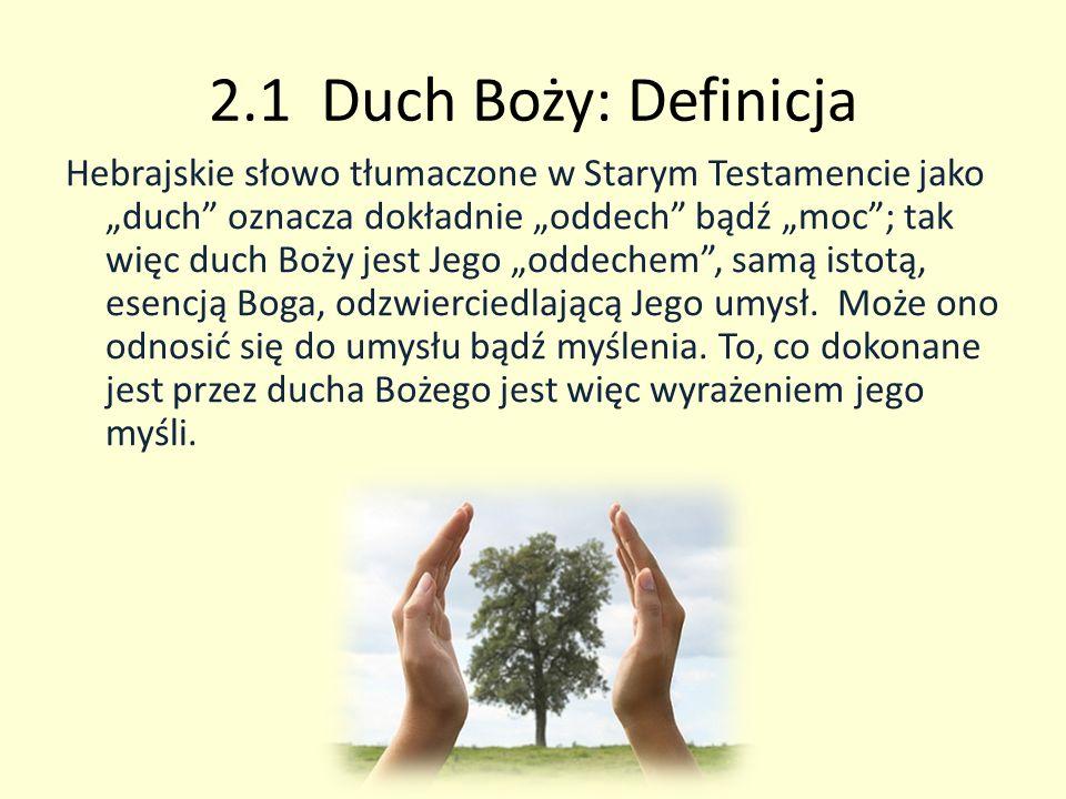 2.1 Duch Boży: Definicja