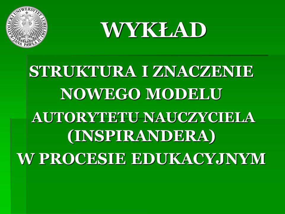 AUTORYTETU NAUCZYCIELA (INSPIRANDERA) W PROCESIE EDUKACYJNYM