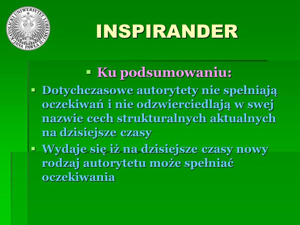 INSPIRANDER Ku podsumowaniu: