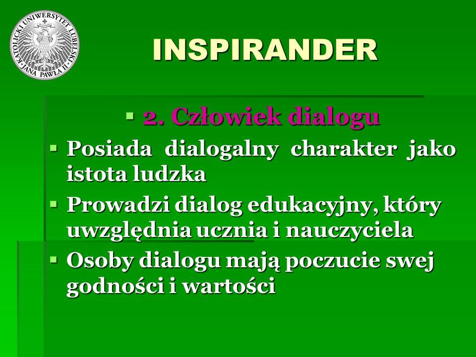 INSPIRANDER 2. Człowiek dialogu