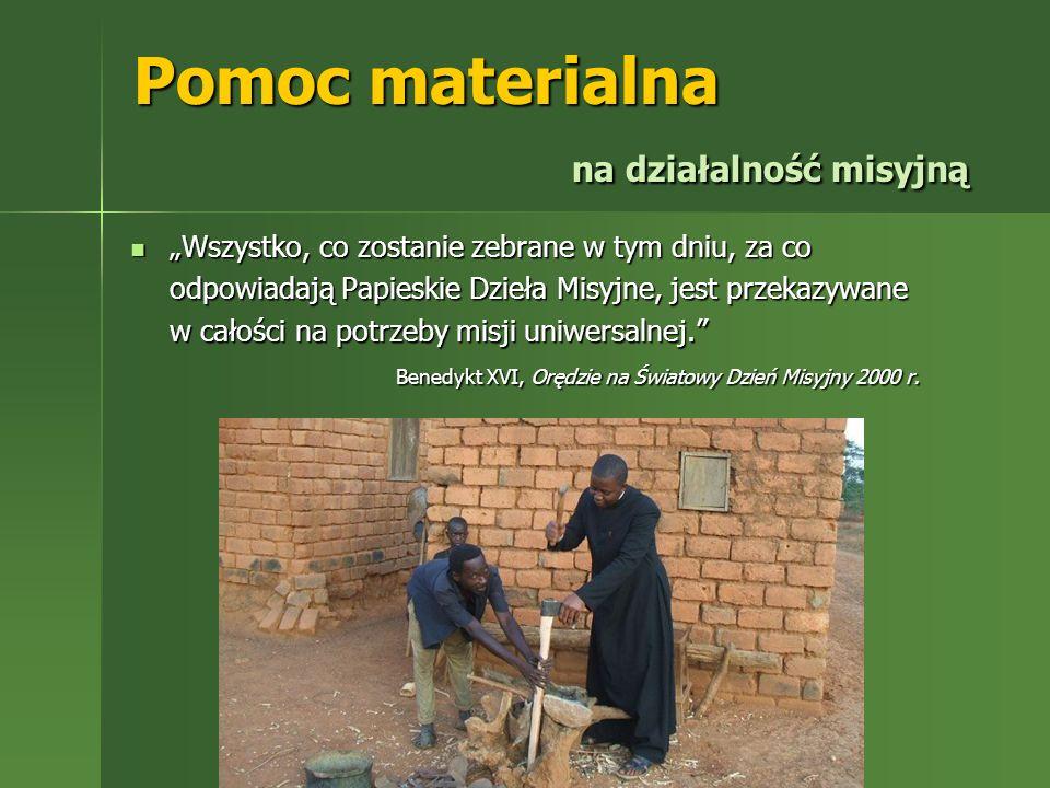 Pomoc materialna na działalność misyjną