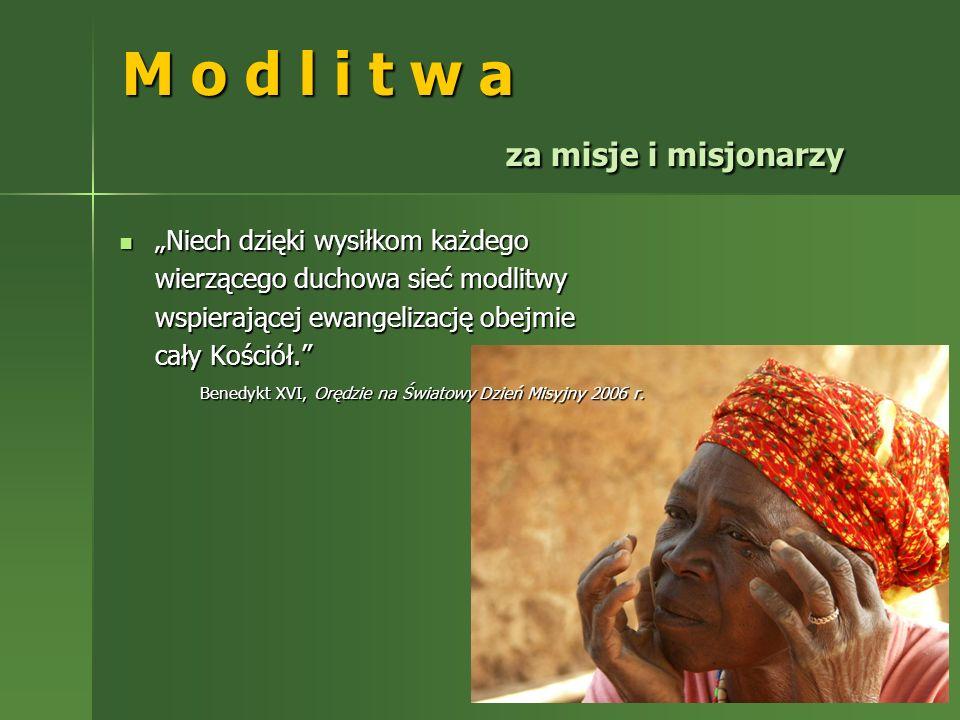 M o d l i t w a za misje i misjonarzy