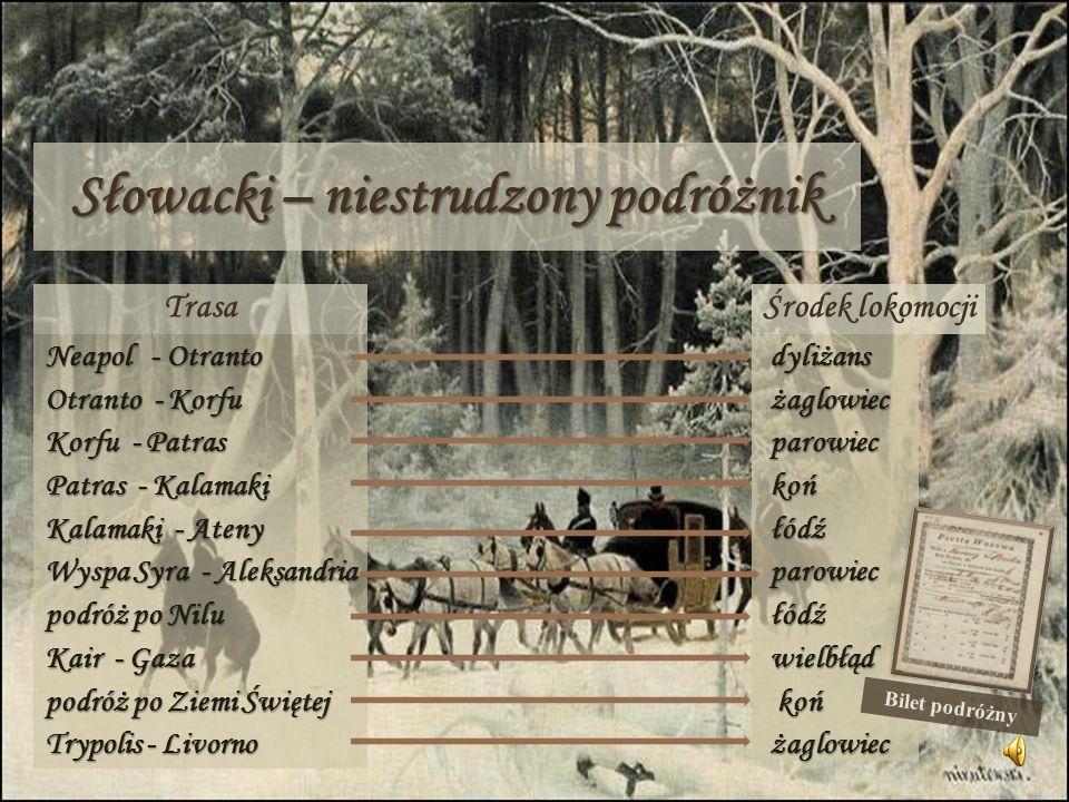 Słowacki – niestrudzony podróżnik