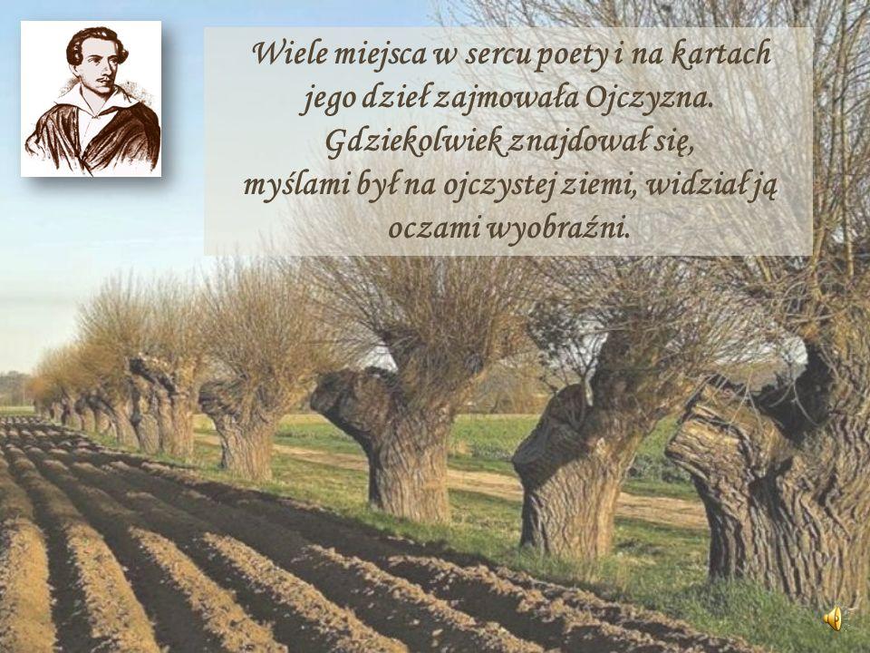 Wiele miejsca w sercu poety i na kartach jego dzieł zajmowała Ojczyzna