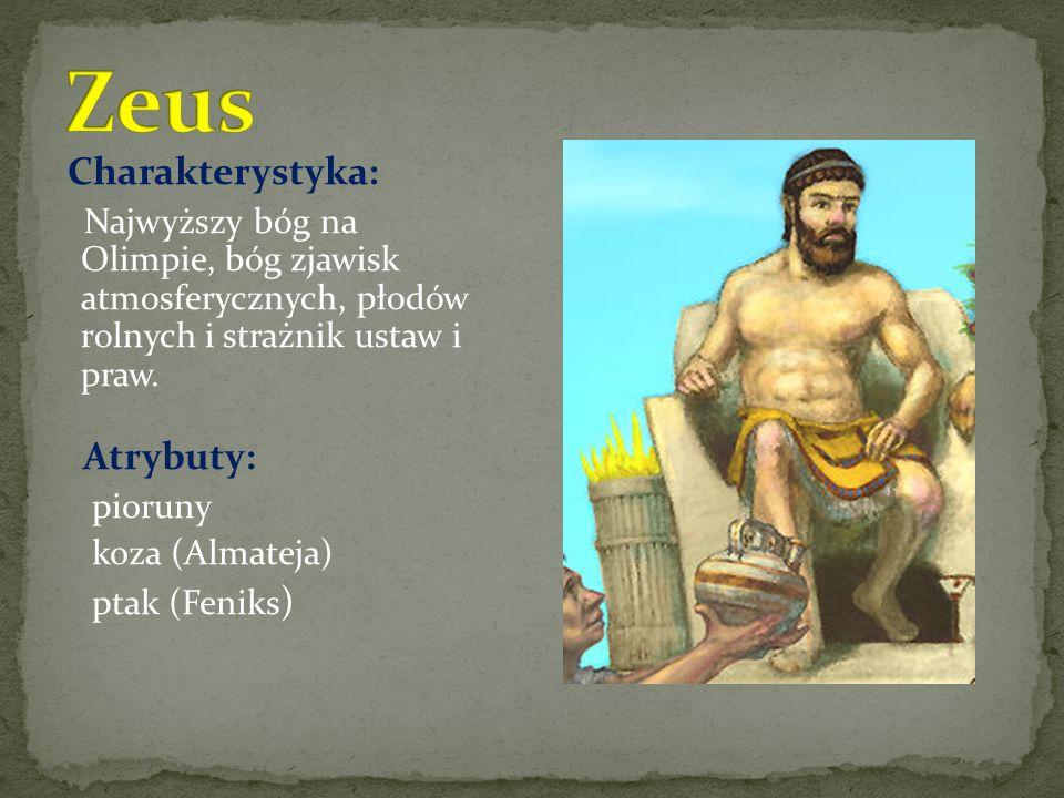 Zeus Charakterystyka: Atrybuty:
