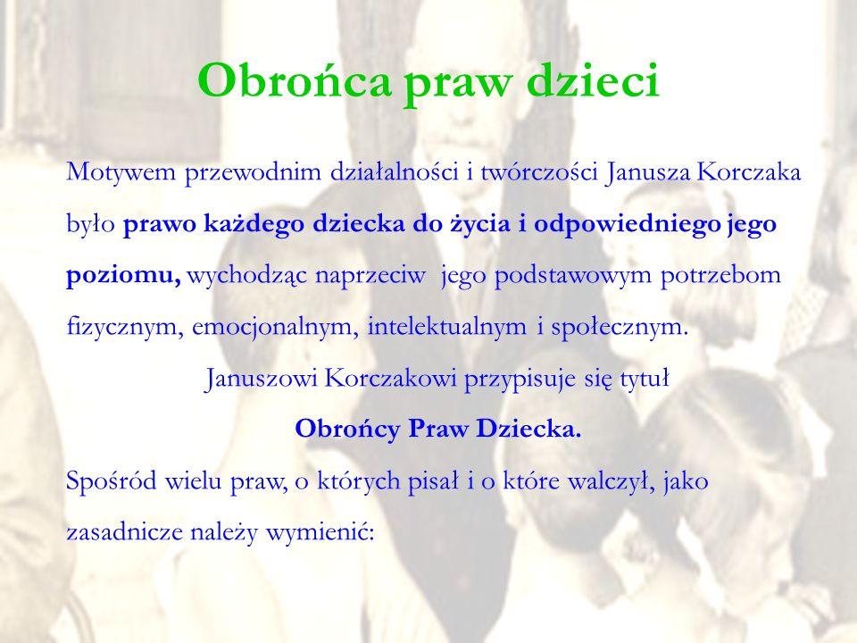 Januszowi Korczakowi przypisuje się tytuł