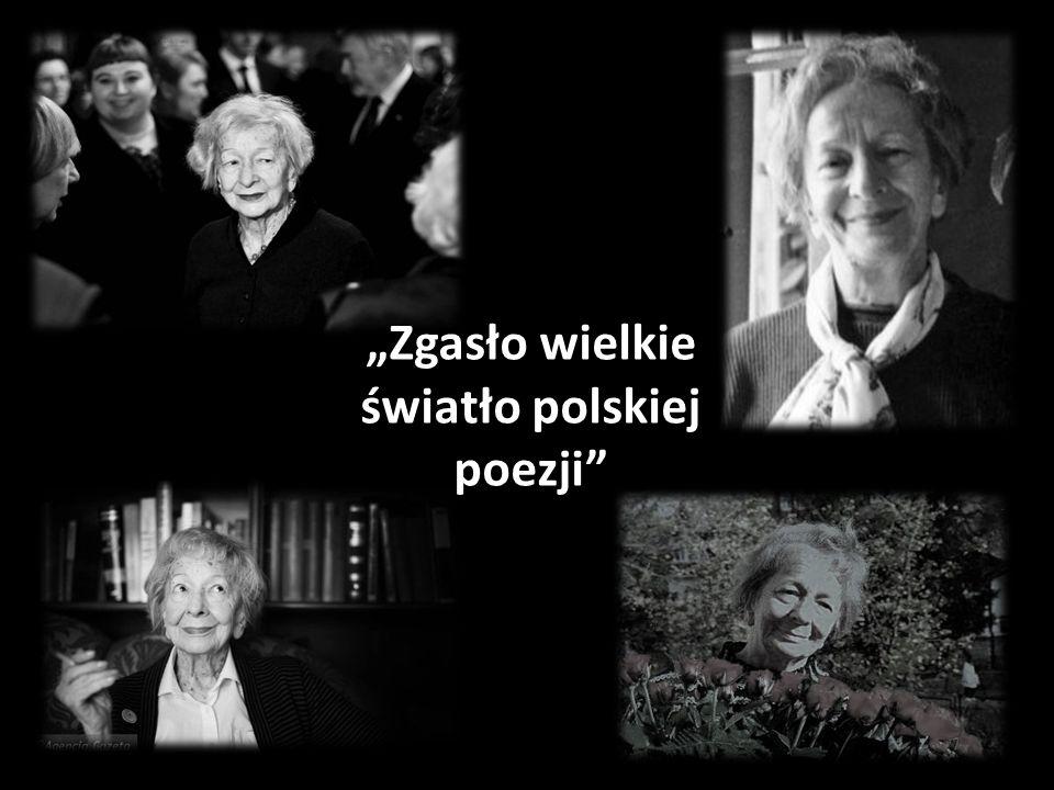 """""""Zgasło wielkie światło polskiej poezji"""