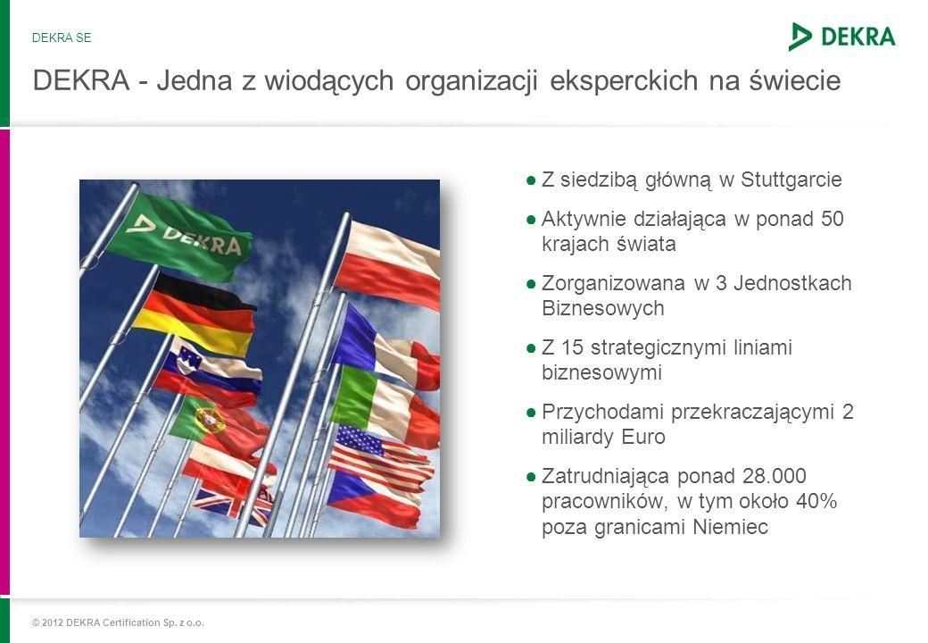 DEKRA - Jedna z wiodących organizacji eksperckich na świecie