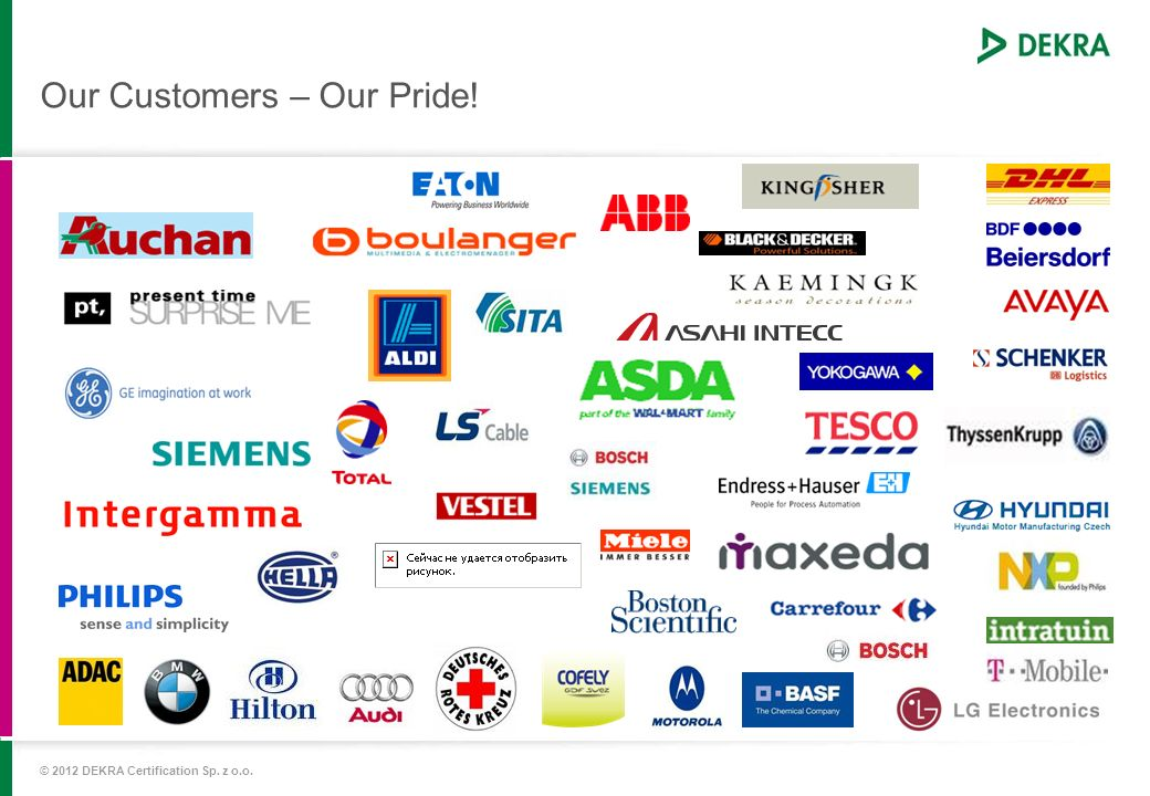 Our Customers – Our Pride!